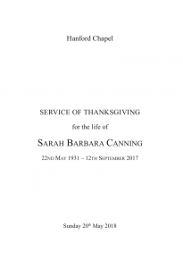Hanford School-Sarah Canning's Memorial 1