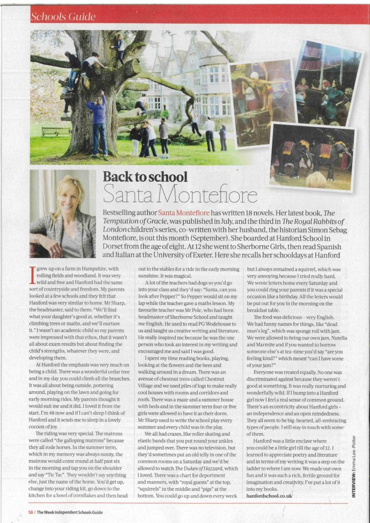 Hanford School-The Week Schools Guide - Santa Montefiore