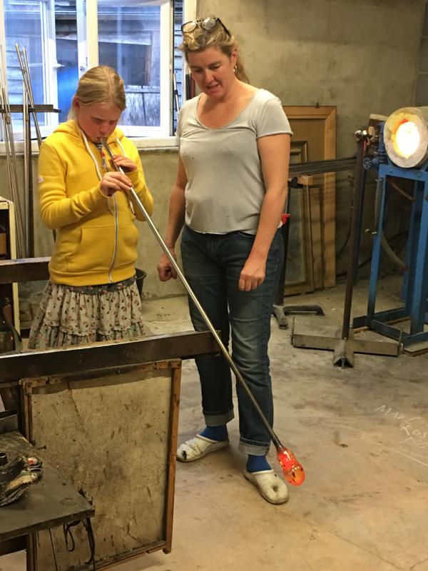 Hanford School-Glass Blowing with Emsie Sharp 9