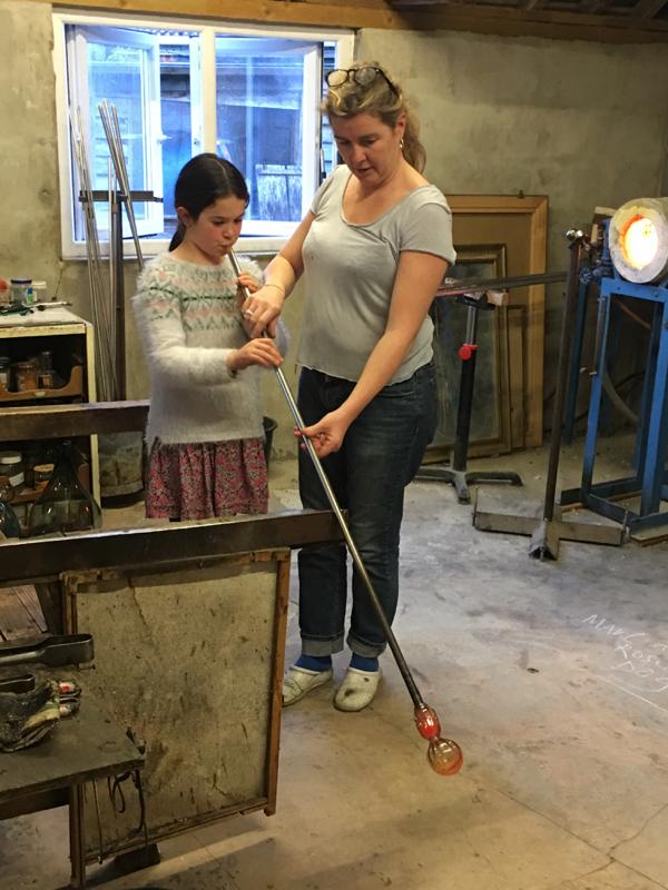 Hanford School-Glass Blowing with Emsie Sharp 10