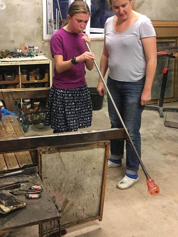 Hanford School-Glass Blowing with Emsie Sharp 20