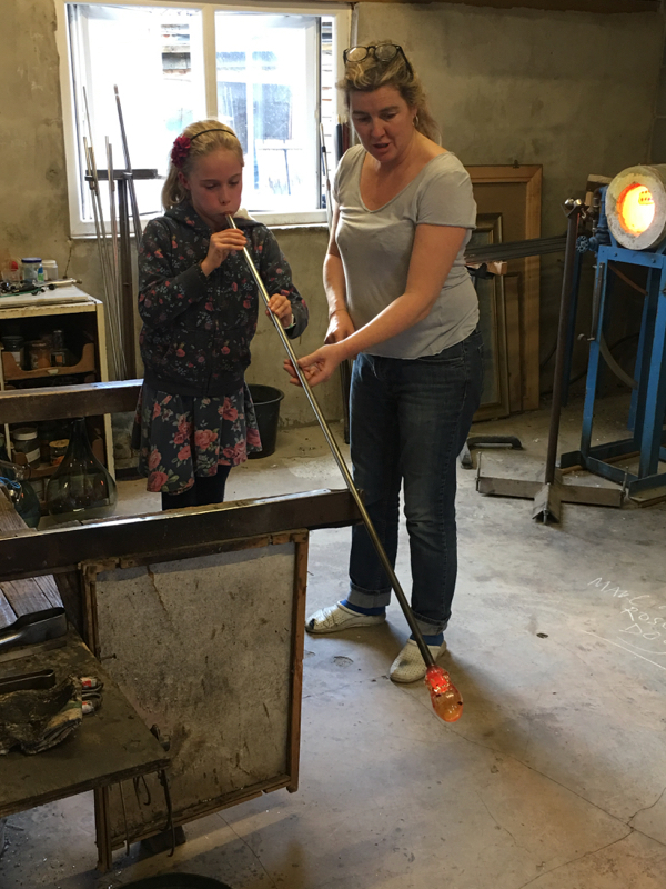 Hanford School-Glass Blowing with Emsie Sharp 5