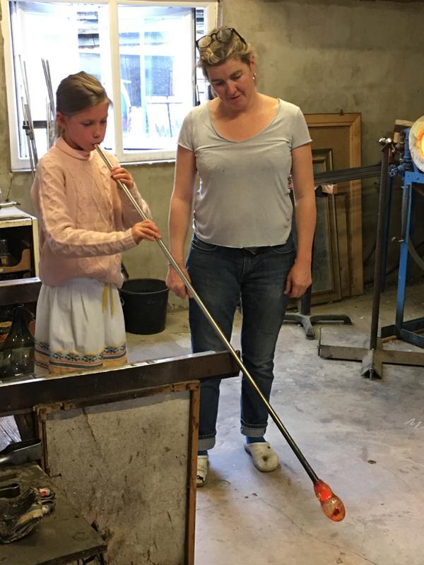 Hanford School-Glass Blowing with Emsie Sharp 7