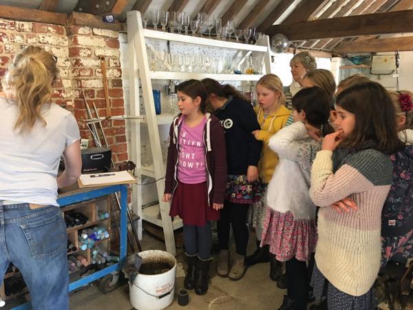Hanford School-Glass Blowing with Emsie Sharp