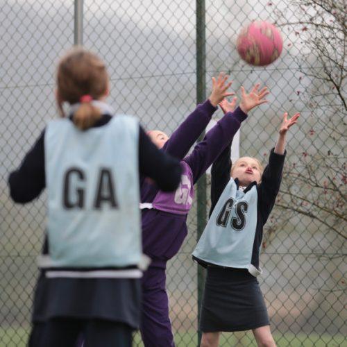 Hanford School-U13 and U12 netball teams hosted Port Regis