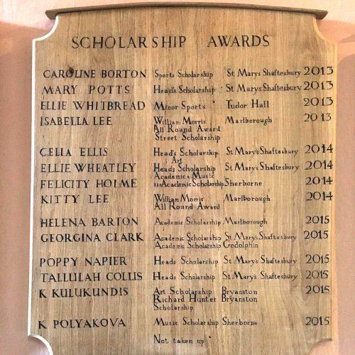 Hanford School-Scholarship Success