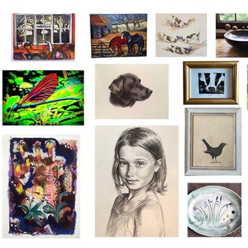 Hanford School Art for the Art Barn Auction